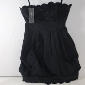 BCBGMAXAZRIA Women's Black Dress Sz 0 MSRP:$338